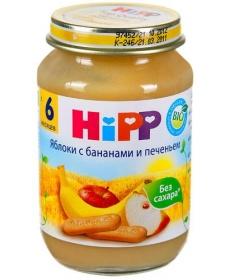 HIPP Пюре 190г Яблоко/Банан/Печенье