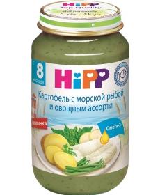 HIPP Пюре 220г Картофель/Морская рыба/Овощное Ассорти