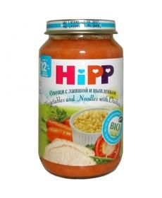 HIPP Пюре 220г Овощи с лапшой и цыпленком