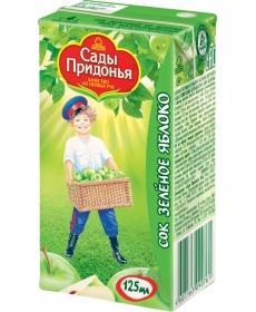 Сады Придонья Сок 0,125л Зелёное Яблоко Осветленный