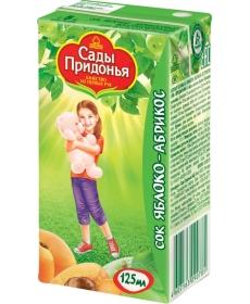 Сады Придонья Сок 0,125л Яблоко/Абрикос
