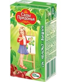 Сады Придонья Сок 0,125л Яблоко/Вишня