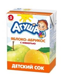 Агуша Сок Яблоко/Абрикос 200мл