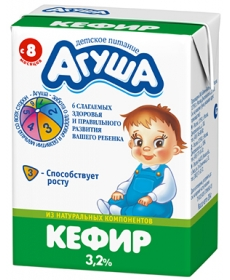Агуша Кефир 204г 3,2%