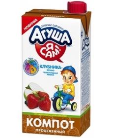 Агуша Я САМ! Компот Яблоко/Клубника/Рябина 500г