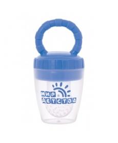 Мир Детства - Силиконовый контейнер для прикорма малыша (голубой)