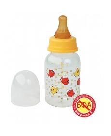 Мир Детства -  Бутылочка с латексной соской, 125 мл
