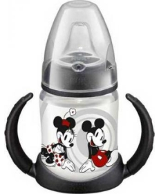 NUK Disney Микки Бутылочка-поильник 150мл красная
