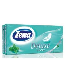 Платки Носовые Zewa Deluxe Kids Ментол 3 слойные