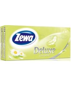 Платки Носовые Zewa Deluxe Kids Ромашка 3 слойные