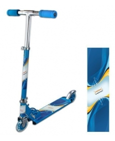 Скутер Olympic, синий, 100 мм PVC светящ., (80%легкосплав., 20% сталь)