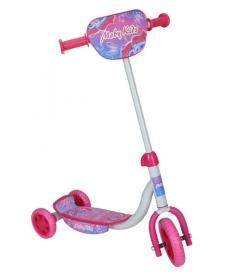 Скутер трехколесный Бабочки,колеса EVA (152 и 127мм) - Розовый