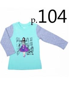 Батик Футболка для девочки длинный рукав в ассортименте, Размер: 104