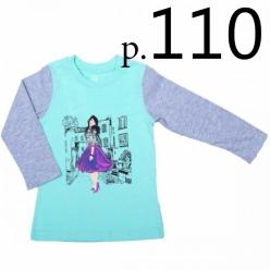 Батик Футболка для девочки длинный рукав в ассортименте, Размер: 110