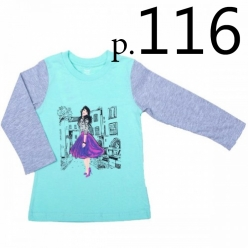 Батик Футболка для девочки длинный рукав в ассортименте, Размер: 116