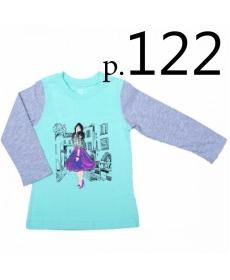 Батик Футболка для девочки длинный рукав в ассортименте, Размер: 122
