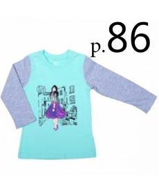 Батик Футболка для девочки длинный рукав в ассортименте, Размер: 86