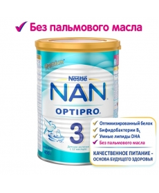 Nestle Смесь NAN 3 Optipro 400г