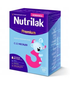 Nutrilak Premium 3 молочная смесь с 12 мес. 600 г.