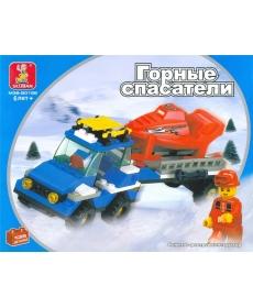 """Sluban Конструктор """"Снегоуборочная техника"""" 135 дет, в/к"""