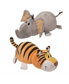 Мягкая игрушка Вывернушка 2в1 Слон-Тигр 12 см - Т10916