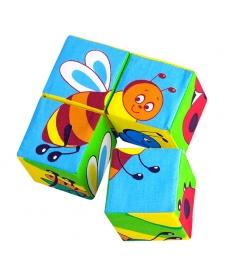 """Игрушка кубики """"Собери картинку""""(Насекомые) 24*17*"""