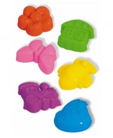 Формочки для песка (3 штуки в сетке),( Цветок, бабочка, домик)