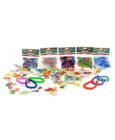 Felicita. №7-2 Набор резиночек (более 300 шт) для плетения (10x4,5). (S-образные клипсы в комплекте)
