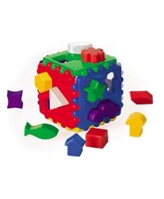 Куб логический большой, 1 куб, 18 деталей, 12*12 см