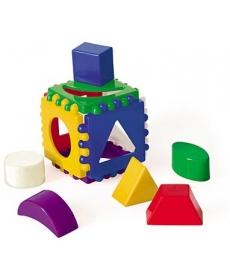 Куб логический маленький, 1 куб, 6 фигур, размер 8*8 см