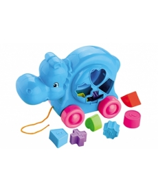 Логическая игрушка - Бегемотик