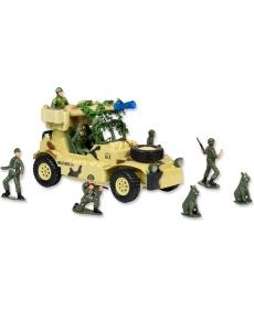 """Р/у игрушка """"Военный джип с пулеметной установкой"""""""