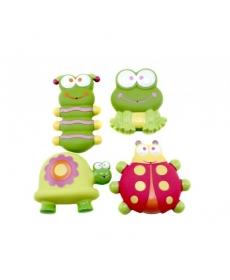"""Мир Детства - Набор игрушек-брызгалок для ванны """"Обитатели цветов"""""""