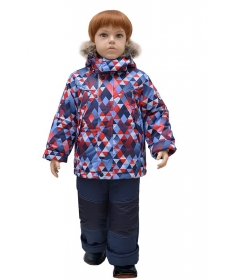 Комплект для мальчика А 22-17 ромбики lapland