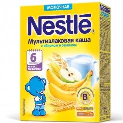 Nestle Каша мультизлаковая с яблоком и бананом 220 г.