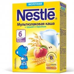 Nestle Каша Молочная Мультизлак/Груша/Персик 220г