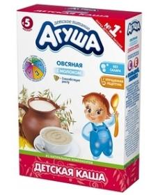 Агуша Каша 200г с молоком Овсянка