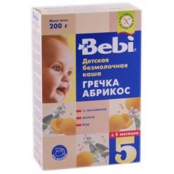 Bebi Каша безмолочная гречневая каша с абрикосом 200г