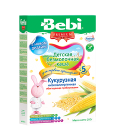 Bebi Каша безмолочная низкоаллергенная кукурузная 200г