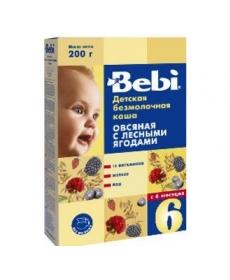 Bebi Каша безмолочная овсяная с лесными ягодами 200г