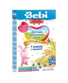 Bebi Молочная Каша 7 Злаков/Черника 200г