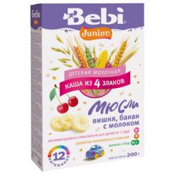 Bebi Каша 200г Юниор Мюсли Вишня/Банан/Молоко