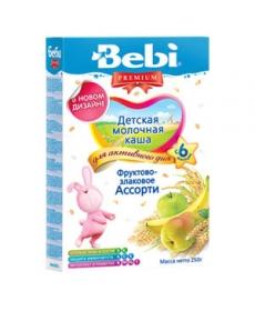 Bebi Каша молочная Premium фруктово-злаковое ассорти 250г