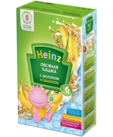 Heinz Каша овсяная с бананом и молоком 250г