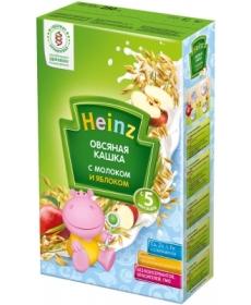 Heinz Каша овсяная с яблоком и молоком 250г