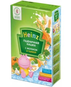 Heinz Каша пшеничная с тыквой и молоком 250г