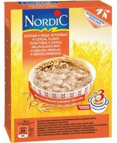 Nordic Каша 4 вида зерновых с овсяными отрубями 600г