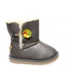 Ботинки серые зимние -Сказка- 19040-GR