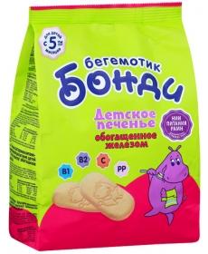 Бонди Бегемотик 180г Печенье с железом