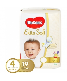 Подгузники Huggies Elite Soft (4) 8-14 кг 19 шт